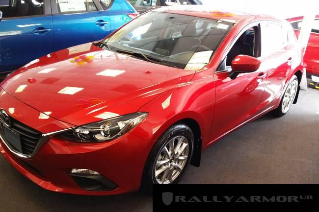 Rally Armor UR Mud Flaps Black W/ Gray Logo Mazda 3 ...