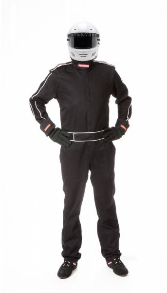 Pyrotect - Pyrotect Sportsman Deluxe One Piece 3 Layer SFI-5 FR PYROVEX (BLACK ONLY)