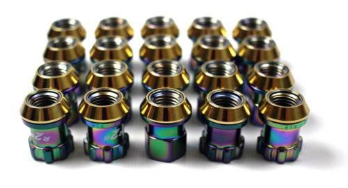 Project Kics - Project Kics Neochrome 12x1.50 Lug Nuts (20)