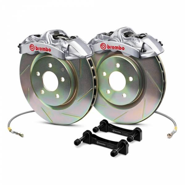 Brembo - Brembo Gran Turismo 4 Piston Front Brake Kit Silver Slotted Rotors