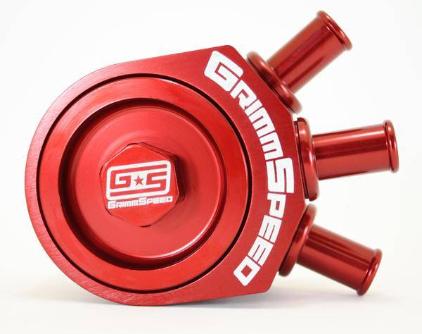 GrimmSpeed - GrimmSpeed Red Air Oil Separator