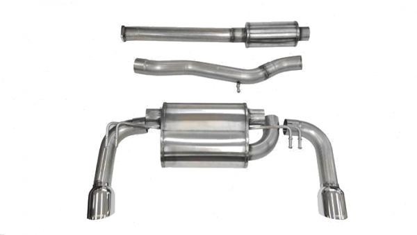 Corsa - Corsa Catback Exhaust System Polished Tips