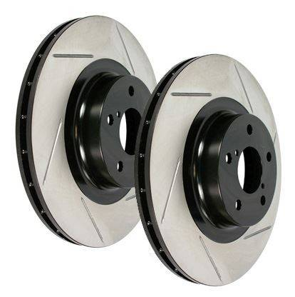 StopTech - Powerslot Slotted Rear Rotor Pair