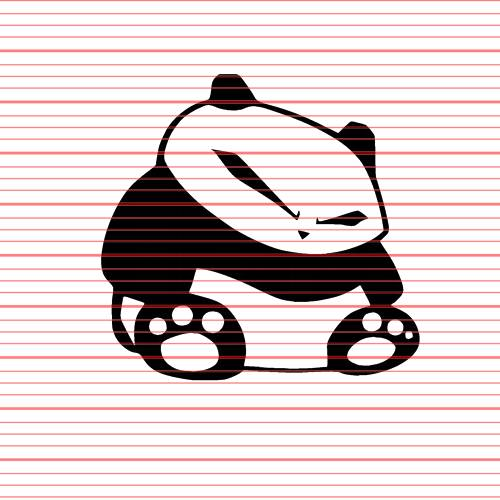 Avery - Angry Panda Decal