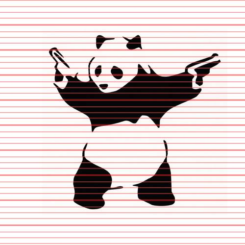 Avery - Armed Panda Decal