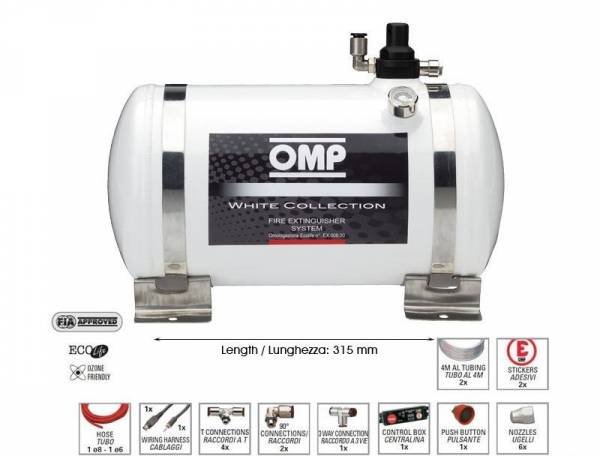 OMP - OMP 14LB White Collection Electrical Fire Extinguisher System