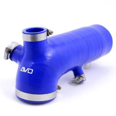 Air Intakes - Intake Tubes - AVO Turboworld - AVO Reinforced Silicone Air Intake Hose (BLUE)