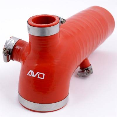 Air Intakes - Intake Tubes - AVO Turboworld - AVO Reinforced Silicone Air Intake Hose (RED)