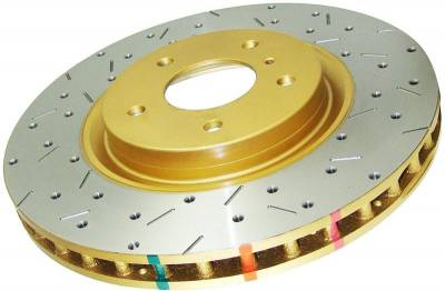 Brakes - Brake Rotors - Disc Brakes Australia - DBA Drilled & Slotted 4000 Series Rotor (Front)