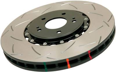 Brakes - Brake Rotors - Disc Brakes Australia - DBA Slotted T3 5000 Series Rotor Assembled w/ Black Hat (Front)