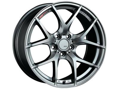 SSR - SSR GTV03 17x7.0 5x100 50mm Offset Phantom Silver Wheel