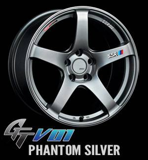 SSR - SSR GTV01 18x8.0 5x114.3 35mm Offset Phantom Silver Wheel - Image 2