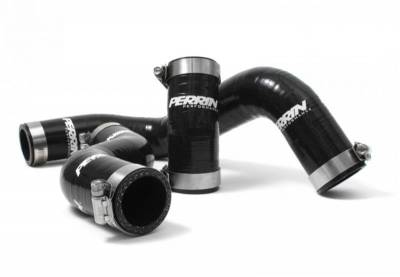 Cooling - Radiator Hoses - Perrin Performance - Perrin Black Radiator Hose Kit