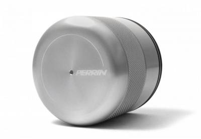 Engine Dress Up - Accessory Caps & Covers - Perrin Performance - Perrin Silver Oil Filter Cover