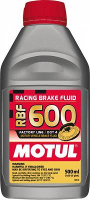 Fluids - Brake Fluids - Motul - Motul 1/2L Brake Fluid RBF 600 - Racing DOT 4