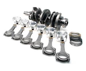 "Brian Crower Stroker Kit - 94.4mm Stroke Billet Crank/6.496"" Rods/Pistons for Nissan GTR 09 +"