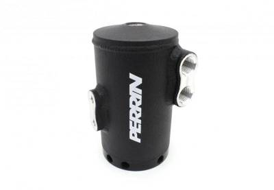 Oil Systems - Oil Catch Cans - Perrin Performance - Perrin Air Oil Separator Black Stock TMIC