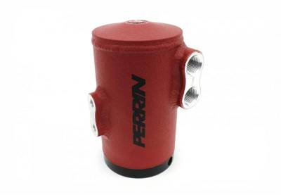 Oil Systems - Oil Catch Cans - Perrin Performance - Perrin Air Oil Separator Red Stock TMIC