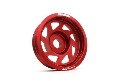 Engine Components - Pulleys - Perrin Performance - Perrin Lightweight Crank Pulley (Red)