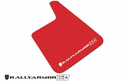Rally Equipment - Mud Flaps - RallyArmor - Rally Armor Red Universal UR Plus Mud flap White logo