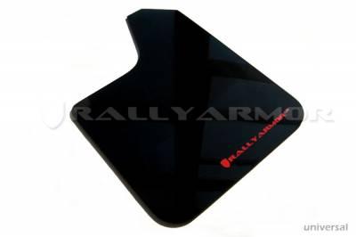 Rally Equipment - Mud Flaps - RallyArmor - Rally Armor Universal UR Black Mud flap Red Logo
