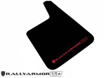 Rally Equipment - Mud Flaps - RallyArmor - Rally Armor Universal UR Plus Black Mud flap Red logo