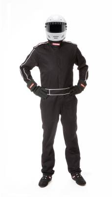 Race Gear - Racing Suits - Pyrotect - Pyrotect Sportsman Deluxe One Piece 3 Layer SFI-5 FR PYROVEX (BLACK ONLY)