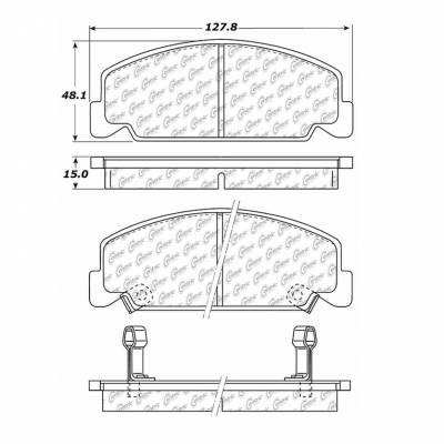 StopTech - Stoptech Centric Premium Semi-Metallic Front Brake Pads - Image 3
