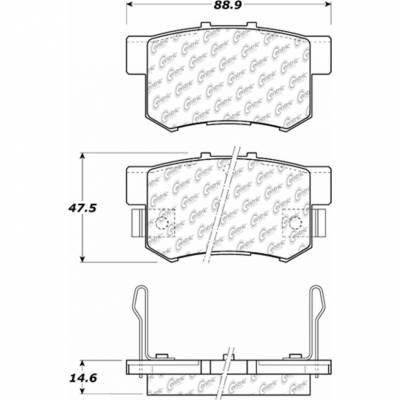 StopTech - Stoptech Centric Premium Semi-Metallic Rear Brake Pads - Image 5