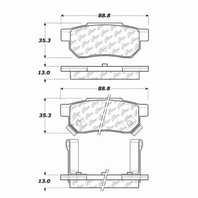 StopTech - Stoptech Centric Premium Ceramic Rear Brake Pads - Image 4