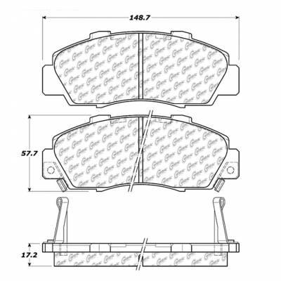 StopTech - Stoptech Centric CTEK Premium Ceramic Front Brake Pads - Image 4