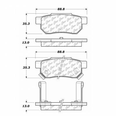 StopTech - Stoptech Centric CTEK Premium Ceramic Rear Brake Pads - Image 3