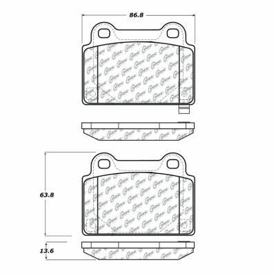 StopTech - Stoptech Posi-Quiet Metallic Brake Pads REAR - Image 3