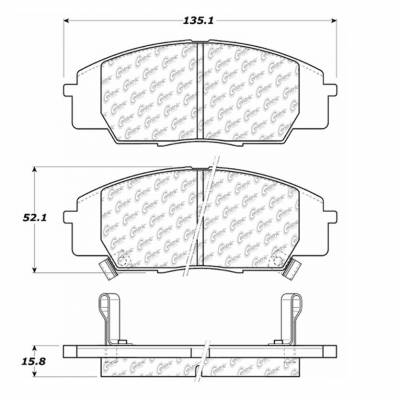 StopTech - Stoptech Posi-Quiet Ceramic Front Brake Pads - Image 4