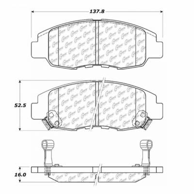 StopTech - Stoptech Posi-Quiet Ceramic Front Brake Pads - Image 6