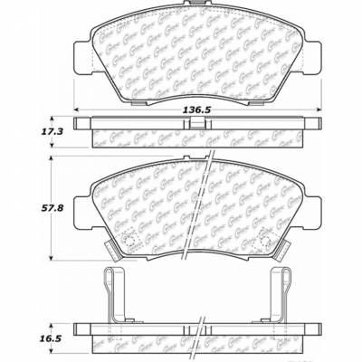 StopTech - Stoptech Posi-Quiet Ceramic Front Brake Pads - Image 3