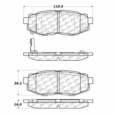 StopTech - Stoptech Posi-Quiet Ceramic Rear Brake Pads - Image 3