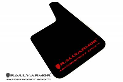 Rally Equipment - Mud Flaps - RallyArmor - Rally Armor Universal MSpec Mud flap Red logo