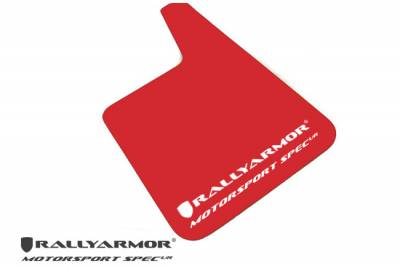 Rally Equipment - Mud Flaps - RallyArmor - Rally Armor Universal Red MSpec Mud flap White logo