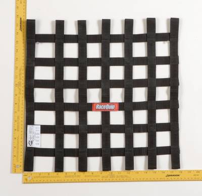 Race Gear - Net Mounts and Accessories - RaceQuip - RACEQUIP 18 X 18 SFI RIBBON NET  BLACK