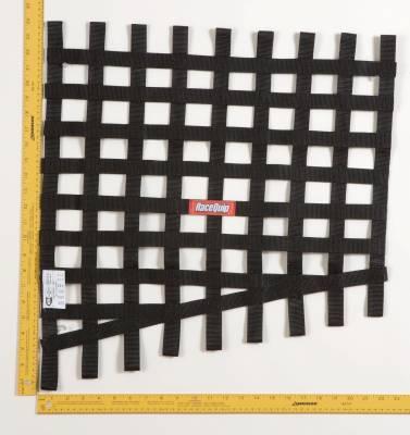 Race Gear - Net Mounts and Accessories - RaceQuip - RACEQUIP DRAG 24 TO 18 X 23 SFI  RIB NET  BLACK