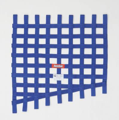 Race Gear - Net Mounts and Accessories - RaceQuip - RACEQUIP DRAG 24 TO 18 X 23 SFI  RIB NET  BLUE