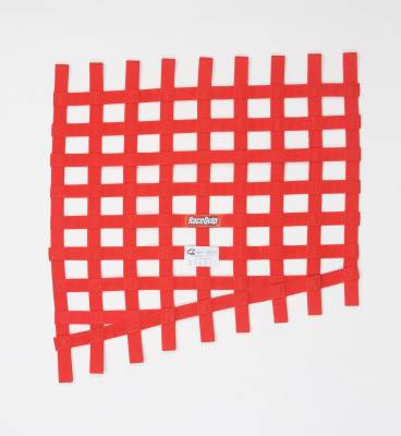 Race Gear - Net Mounts and Accessories - RaceQuip - RACEQUIP DRAG 24 TO 18 X 23 SFI  RIB NET RED