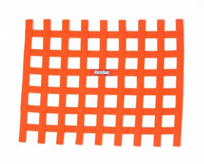Race Gear - Net Mounts and Accessories - RaceQuip - RACEQUIP RIBBON WINDOW NET ORANGE
