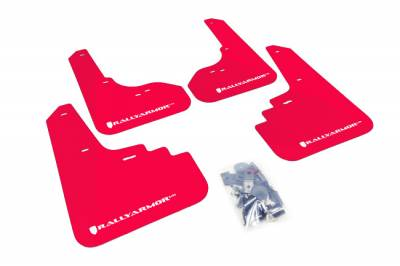 RallyArmor - Rally Armor 05-09 Legacy Red UR Mud Flap White Logo