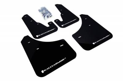 Aero - Rally Armor - RallyArmor - Rally Armor 04-09 Mazda3 / Speed3 Mud flap White logo