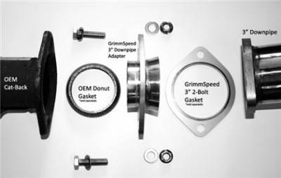 """GrimmSpeed - GrimmSpeed 3"""" Downpipe Exhaust Adapter - Image 3"""