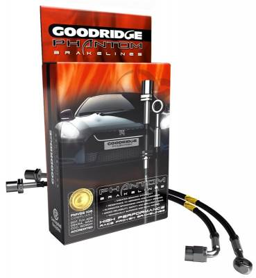 Brakes - Brake Lines - Goodridge - Goodridge Phantom Black Brake Lines