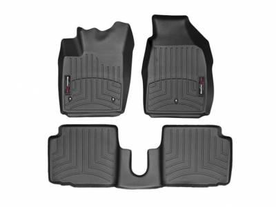 Interior Components - Floor Mats - WeatherTech - WeatheTech Front and Rear Floorliners Black