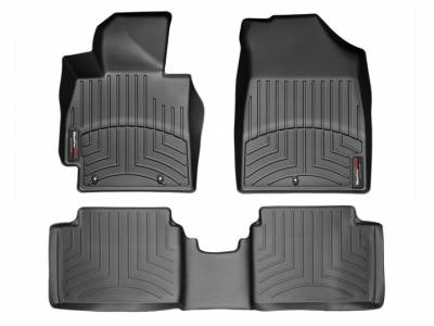 Interior Components - Floor Mats - WeatherTech - WeatherTech Front and Rear Floorliners Black
